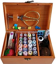 DDXTJ.DMM Wooden Sewing Basket with Sewing Kit