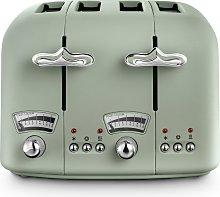 De'Longhi CTO4 Argento Flora 4 Slice Toaster -
