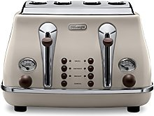 De'Longhi Icona Vintage 4 slot toaster,