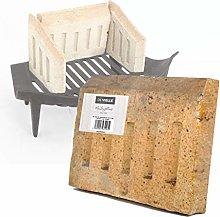 De Vielle Back Brick for 18-Inch Grate, Metal,