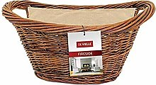 De Vielle Natural Wicker Basket with Jute Liner,