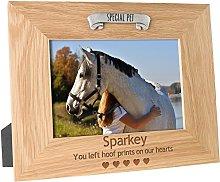 De Walden Horse or Pony Memorial Engraved Oak