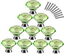 Dealglad 10pcs 40mm Diamond Shape Crystal Glass