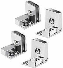 DealMux 2 Pair Glass Door Hinge Cupboard Showcase