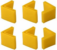 DealMux 45mm x 45mm Angle Iron Foot Pads L Shaped