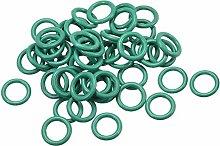 DealMux Fluoride Rubber O-Rings, 6mm OD 4mm ID 1mm