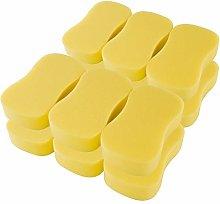 DealMux Yellow Bone Shape Soft Sponge Car Glass