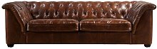 Deandre Leather 4 Seater Chesterfield Sofa