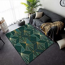 DEAR-JY Carpet, light metal wind dark green gold