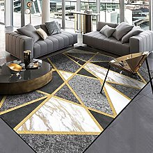 DEAR-JY Carpet, modern black and white grey marble