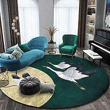 DEAR-JY Carpet,Round Non-Slip Living Room