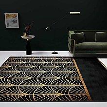 DEAR-JY Modern minimalist Carpet,Light retro black