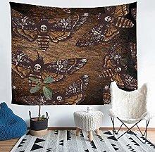 Death Moth Tapestry Skull Pattern Tapestries Wall