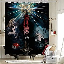 Death Note Shower Curtain Set with 12 Hooks for