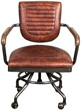 Deatsville Leather Desk Chair Williston Forge