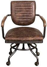 Deatsville Leather Desk Chair Williston Forge