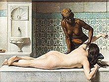 Debat-ponsan Massage Painting Bathroom Art Print