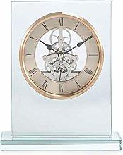 Debenhams Rose Gold Skeleton Mantel Clock