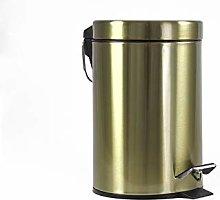 Deblanch Waste Bin, Stainless Steel, Old Gold, 3 L