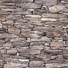 Debona - Brick Effect Wallpaper Slate Stone Rustic