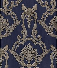 Debona Grosvenor Blue Wallpaper 6216 - Traditional
