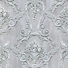 Debona Grosvenor Grey Wallpaper 6217 - Traditional