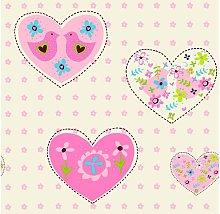 Debona Pink Amour Hearts Birds Girl Children's