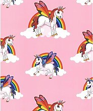 Debona - Rainbow Unicorn Wallpaper Girls