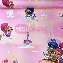 Debona - Shimmer & Shine Wallpaper Princess Girls