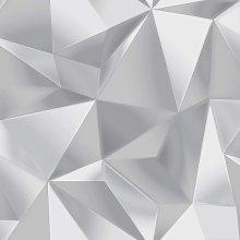 Debona Spectrum 3D Effect Geometric Grey/Silver