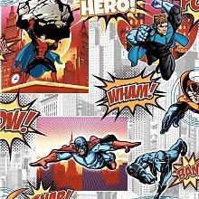 Debona Superhero Multi Wallpaper 6337 - Kids