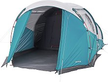 Decathlon 4 Man 2 Room Tunnel Camping Tent - Brown