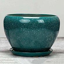 Decbde Ceramic Flower Pot Extra Large Bright Dark