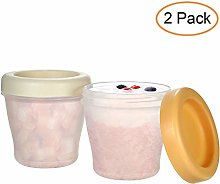 Decdeal Baby Food Containers Frozen Food Storage