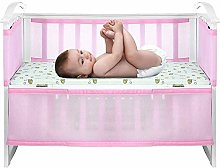 Decdeal Baby Mesh Liner Breathe Easy Nursery Cot