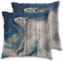 DECISAIYA Cushion Covers 45x45cm Pack of 2,Polar
