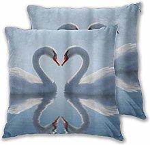 DECISAIYA Cushion Covers 55x55cm Pack of 2,Swan