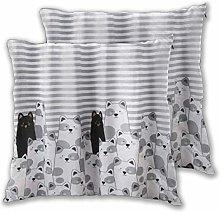 DECISAIYA Cushion Covers 60x60cm Pack of 2,Stripe
