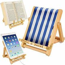 Deckchair Bookchair Book iPad Tablet eReader Stand