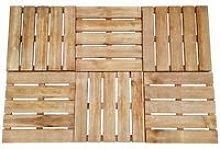Decking Tiles 6 pcs 50x50 cm FSC Wood Brown