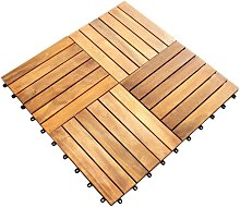 Decking Tiles Wooden Interlocking Boards Square