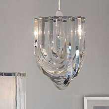 Deco Chandelier Light Shade, Clear, One Size