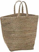Deco&Co DD03877 Basket, Jute, Silver, One Size