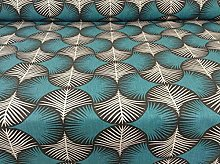 Deco Feathers Teal 150cm Wide Curtain Fabric