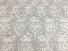 Deco Thistle Natural Beige/Grey 140cm Curtain
