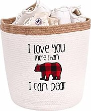 DECOMOMO Bear Cotton Rope Storage Basket   Woven