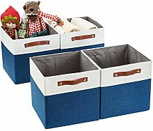DECOMOMO Foldable Storage Bin [4-Pack] Collapsible
