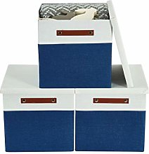 DECOMOMO Stackable Foldable Cube Storage Bin |