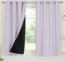 Deconovo 100% Blackout Curtain Panels with Black