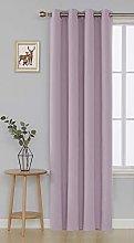 Deconovo Blackout Curtain Eyelets Living Room
